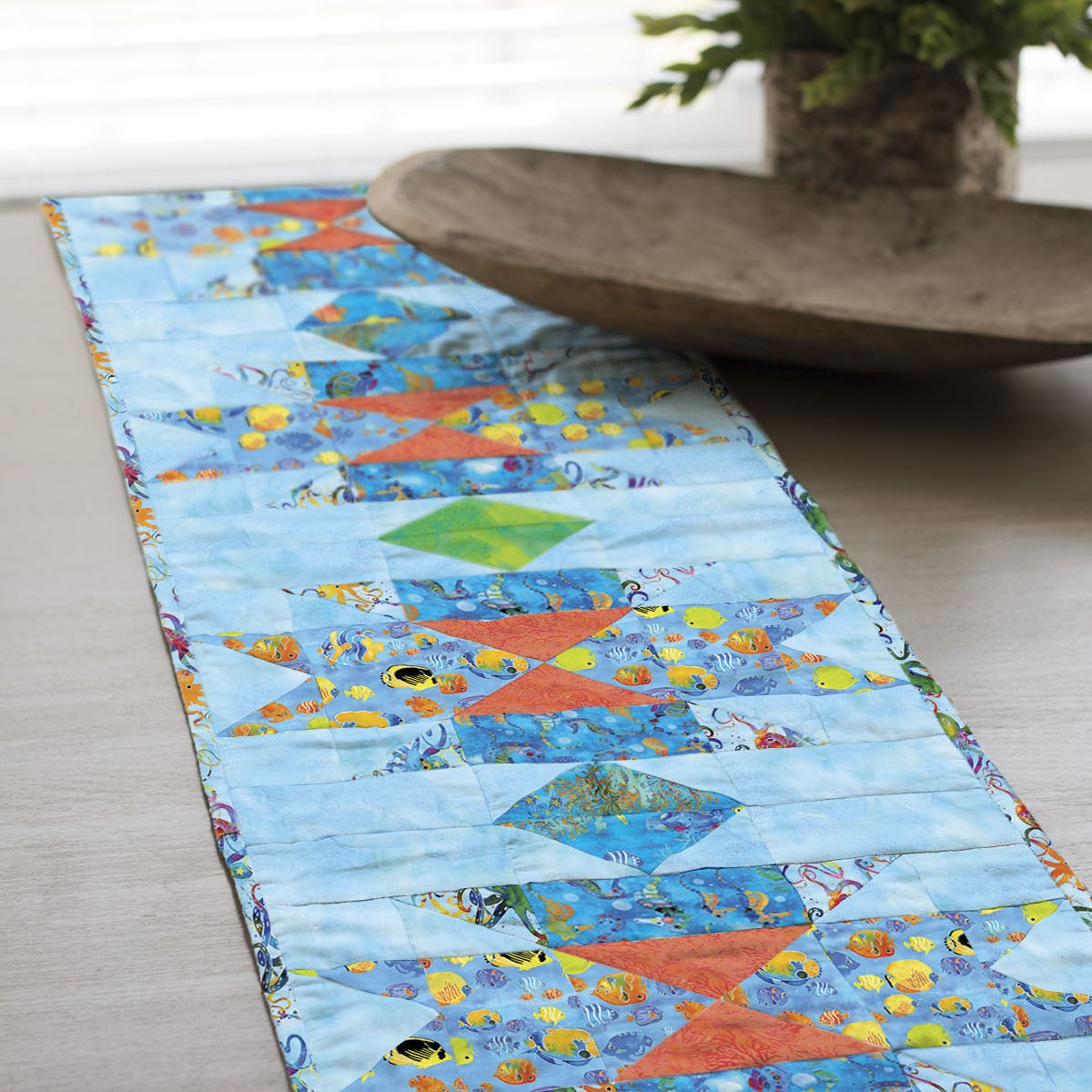 3 Wishes Fabric<br>Under the Sea Table Runner