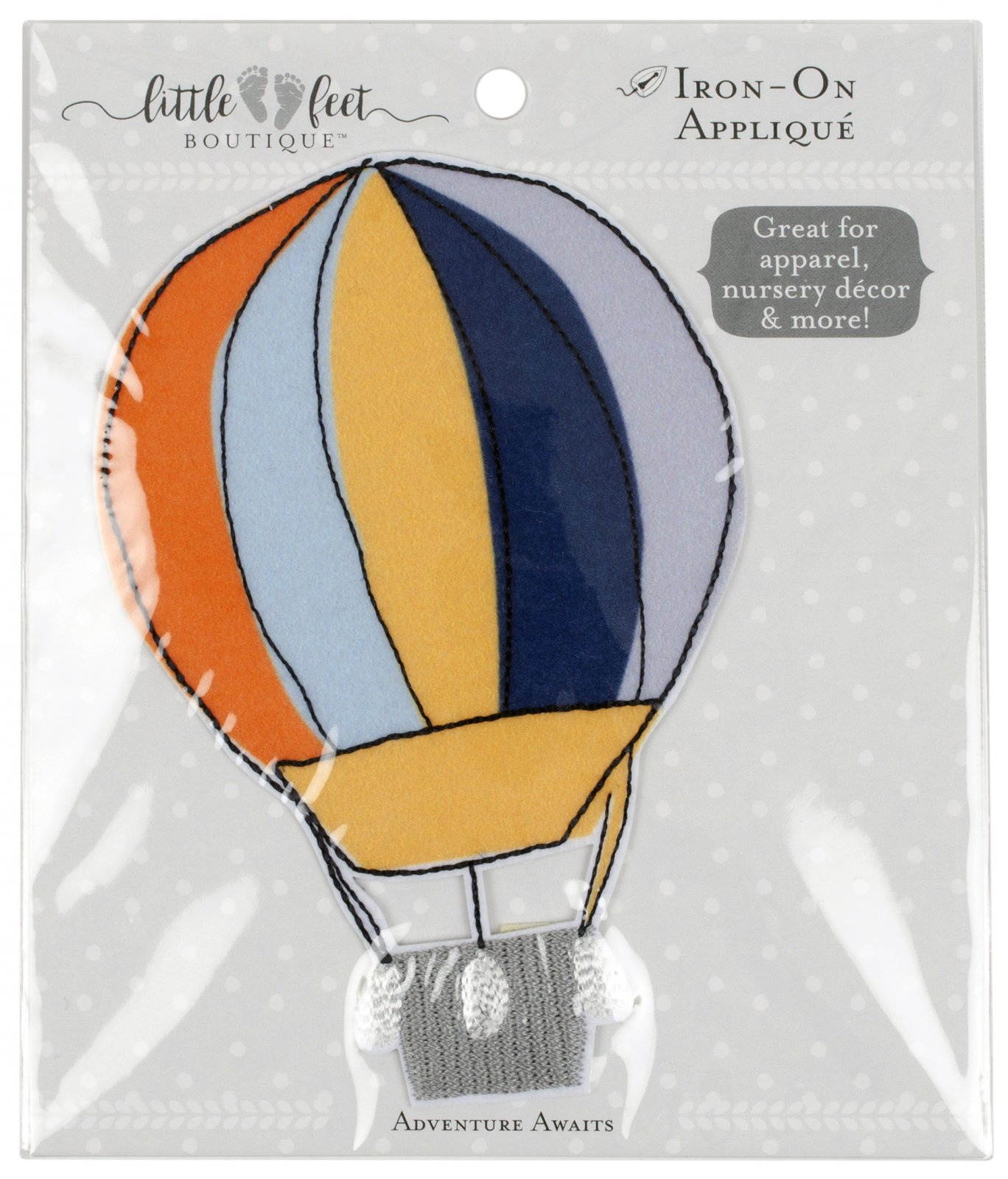 LFB Adventure Awaits<br>Appliqué Balloon<br>WM-LFB-PAT-BALN