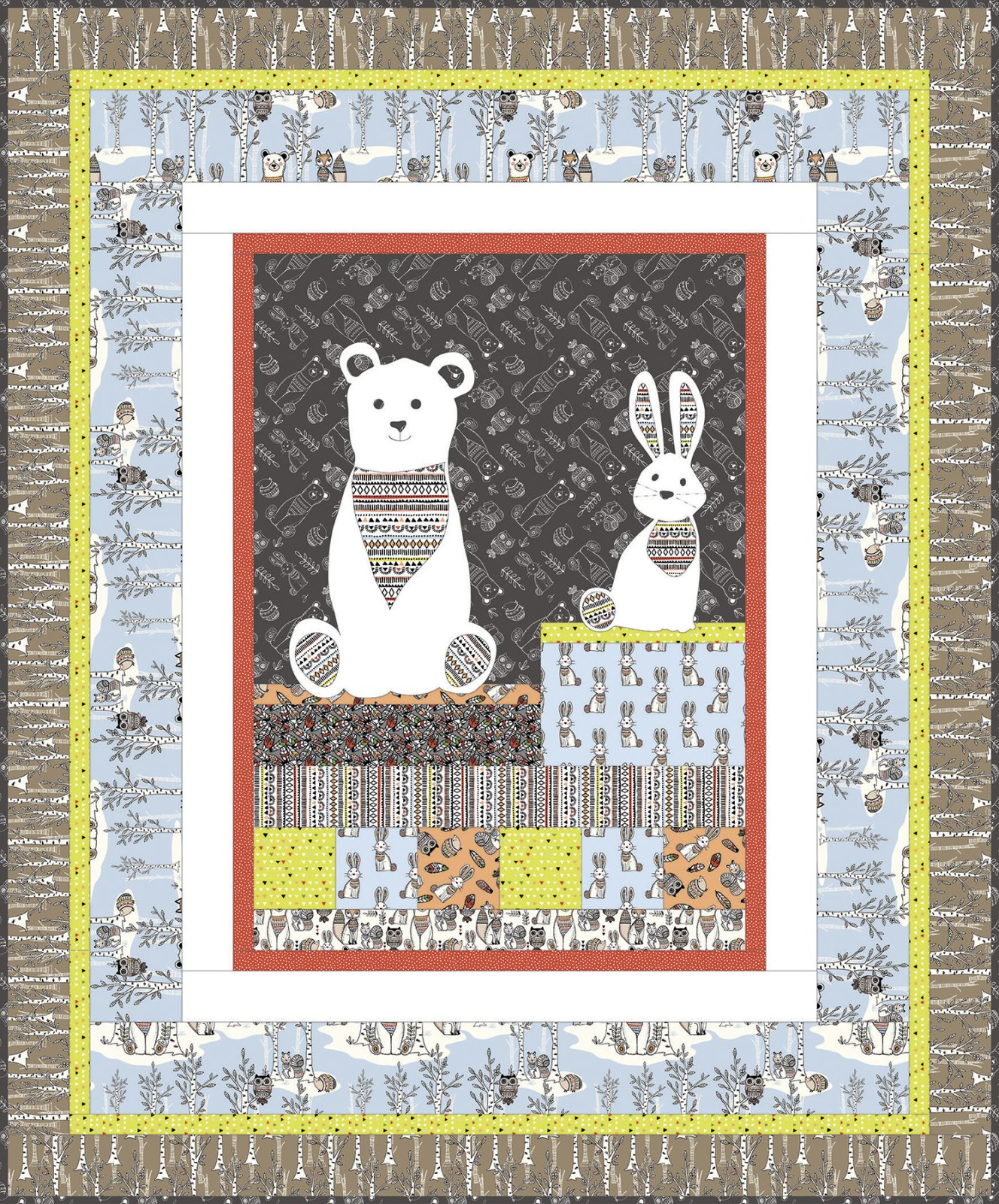 3 Wishes Fabric<br>Woodland Tribe Quilt