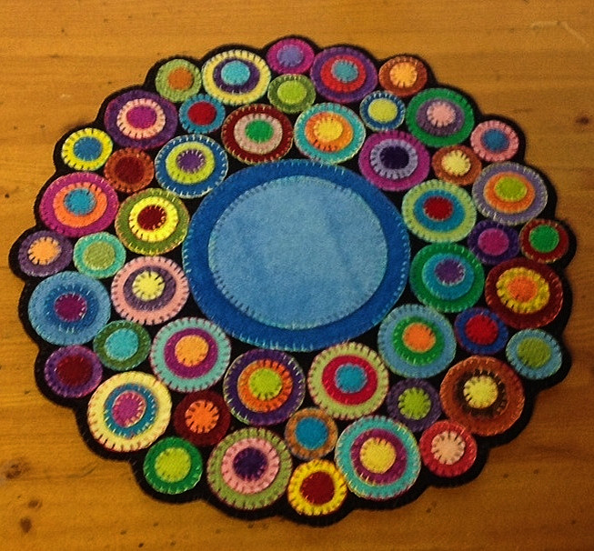 Coin Toss Wool Penny Rug