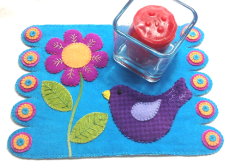 Bright Candle Mat / Mug Rug Project