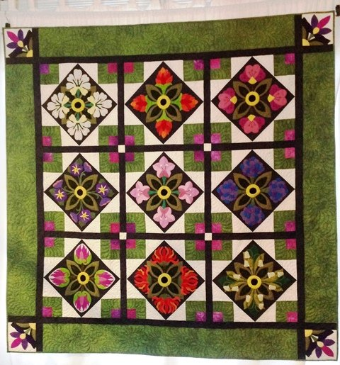 World of Blossoms Quilt Kit