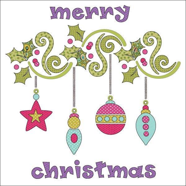 Applique Elementz Holly Jolly Christmas