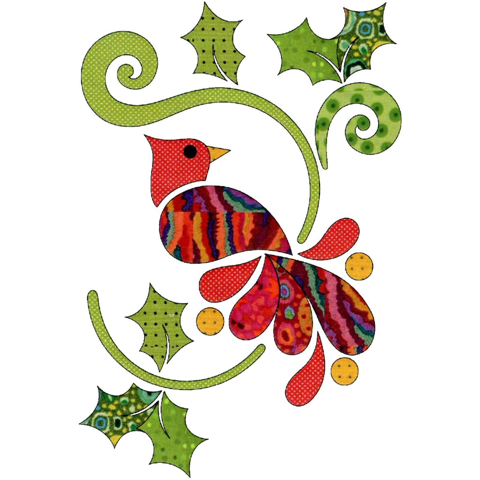 Applique Elementz Christmas Cardinal