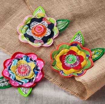 Brother Quilted Brooch