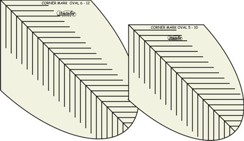 Westalee Corner Mark Ovals Template Set 1