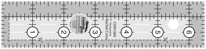 Creative Grids Quilt Ruler 1.5 x 6.5