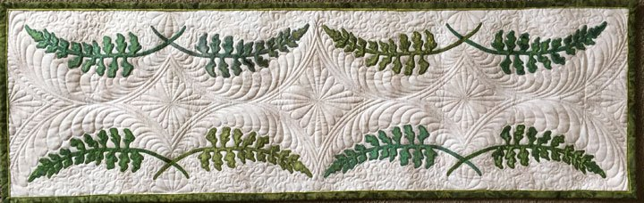 Dancing Fern Machine Embroidery Applique Table Runner CD
