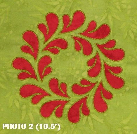 10.5 Feathered Wreath (Stitched as 4 Part Design)