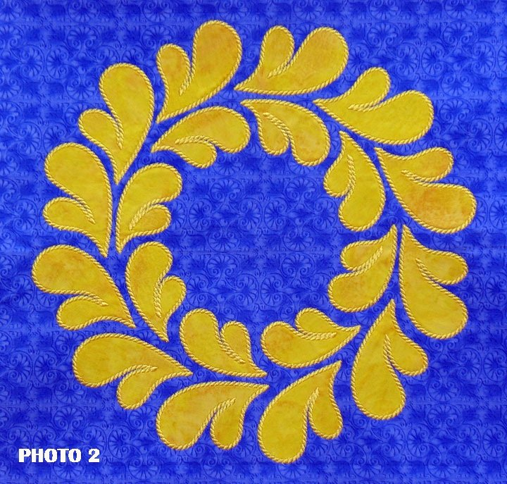 11.5 Feathered Wreath (Stitched as 2 Part Design)