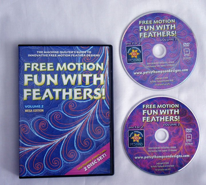 Free Motion Fun...With Feathers!  Volume 2