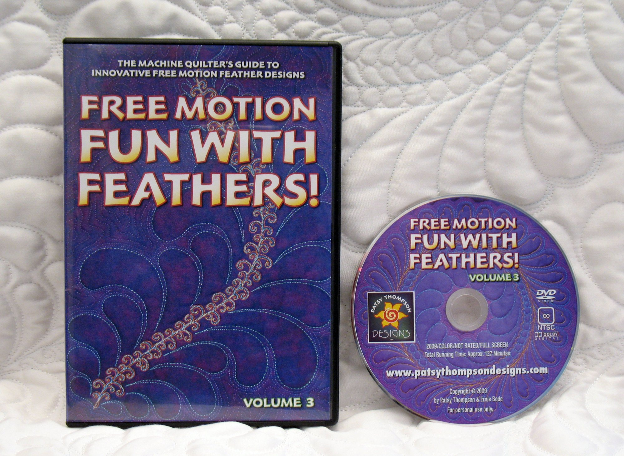 Free Motion Fun...With Feathers!  Volume 3
