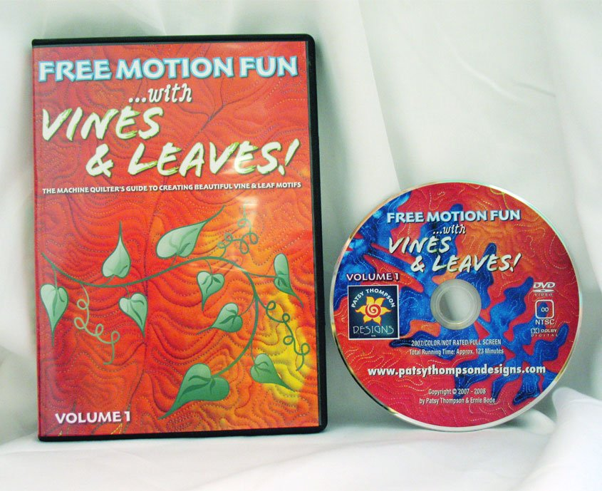 Free Motion Fun...With Vines and Leaves! Volume 1