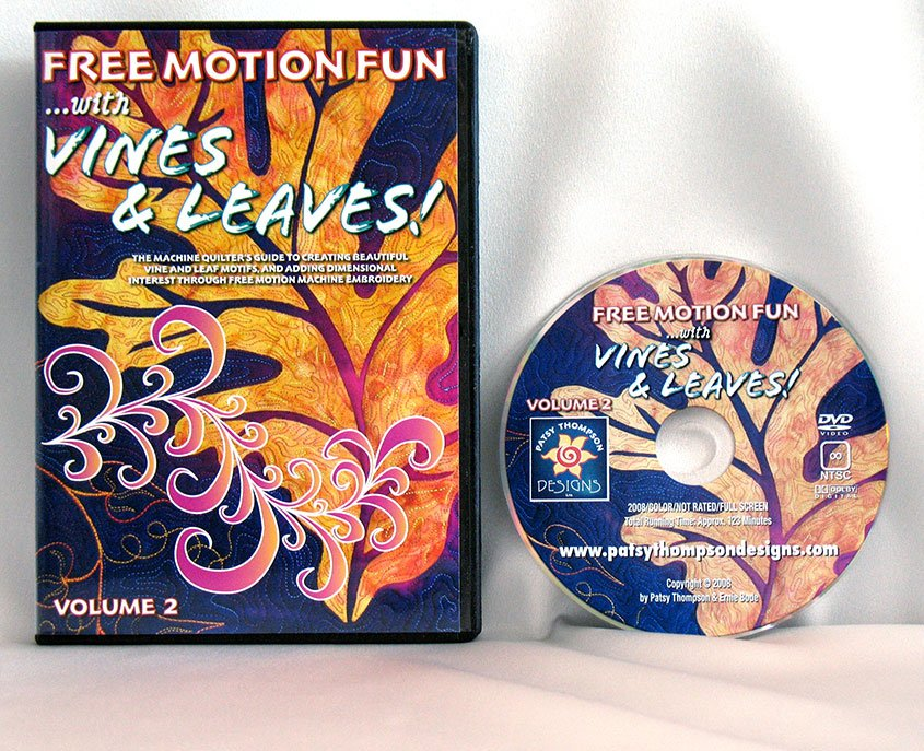 Free Motion Fun...With Vines and Leaves! Volume 2