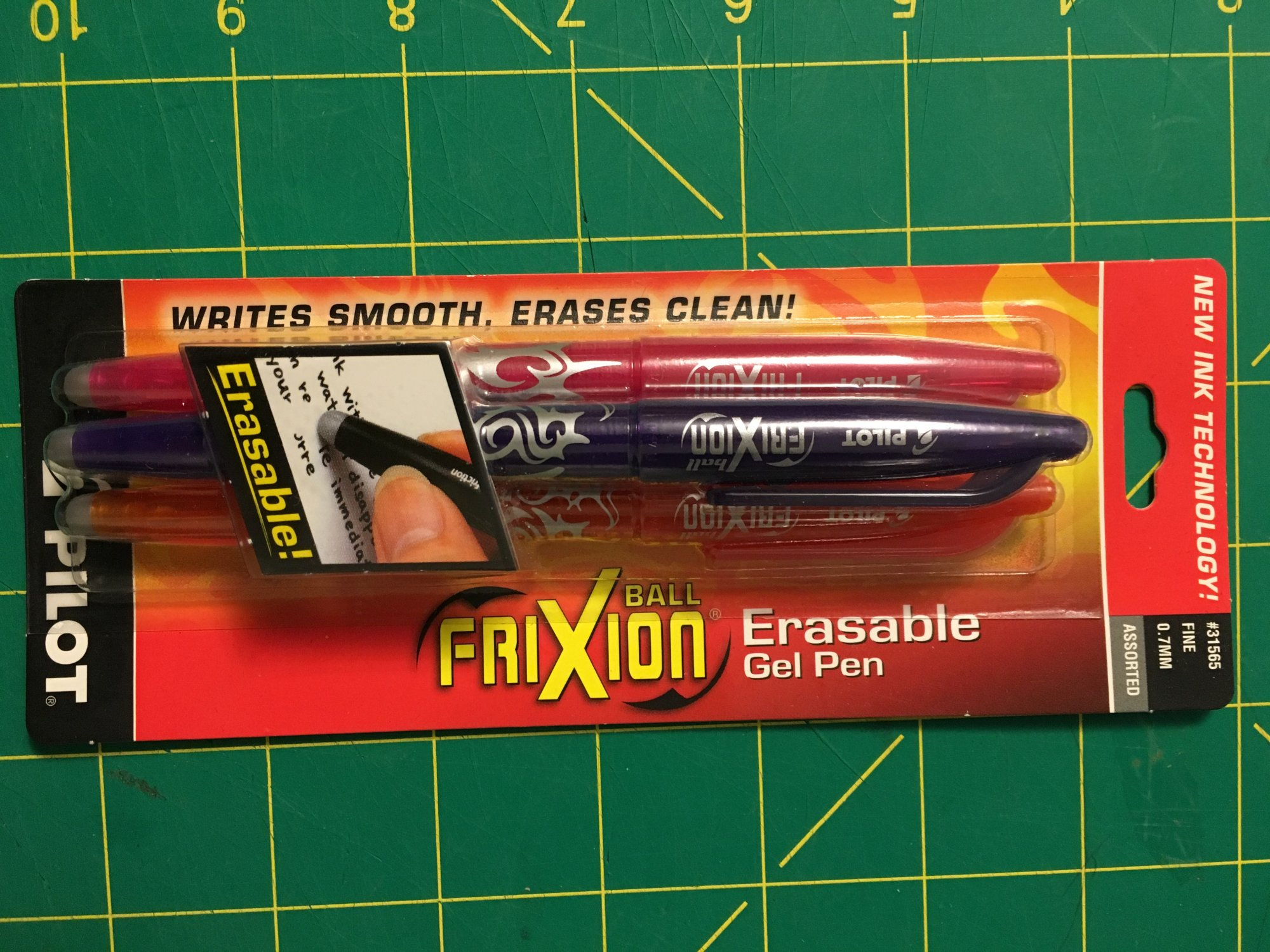 PILOT Frixion Erasable Gel Pens (set of 3)