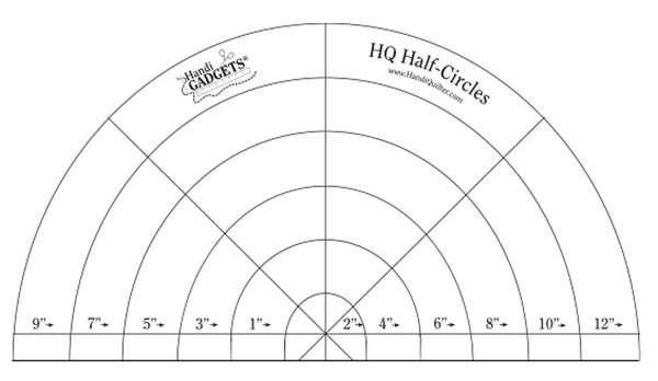 hq ruler set half circle templates