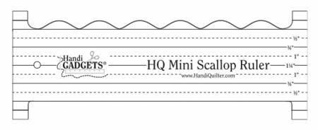 HQ Mini Scallop Ruler    (8 X 3 in)