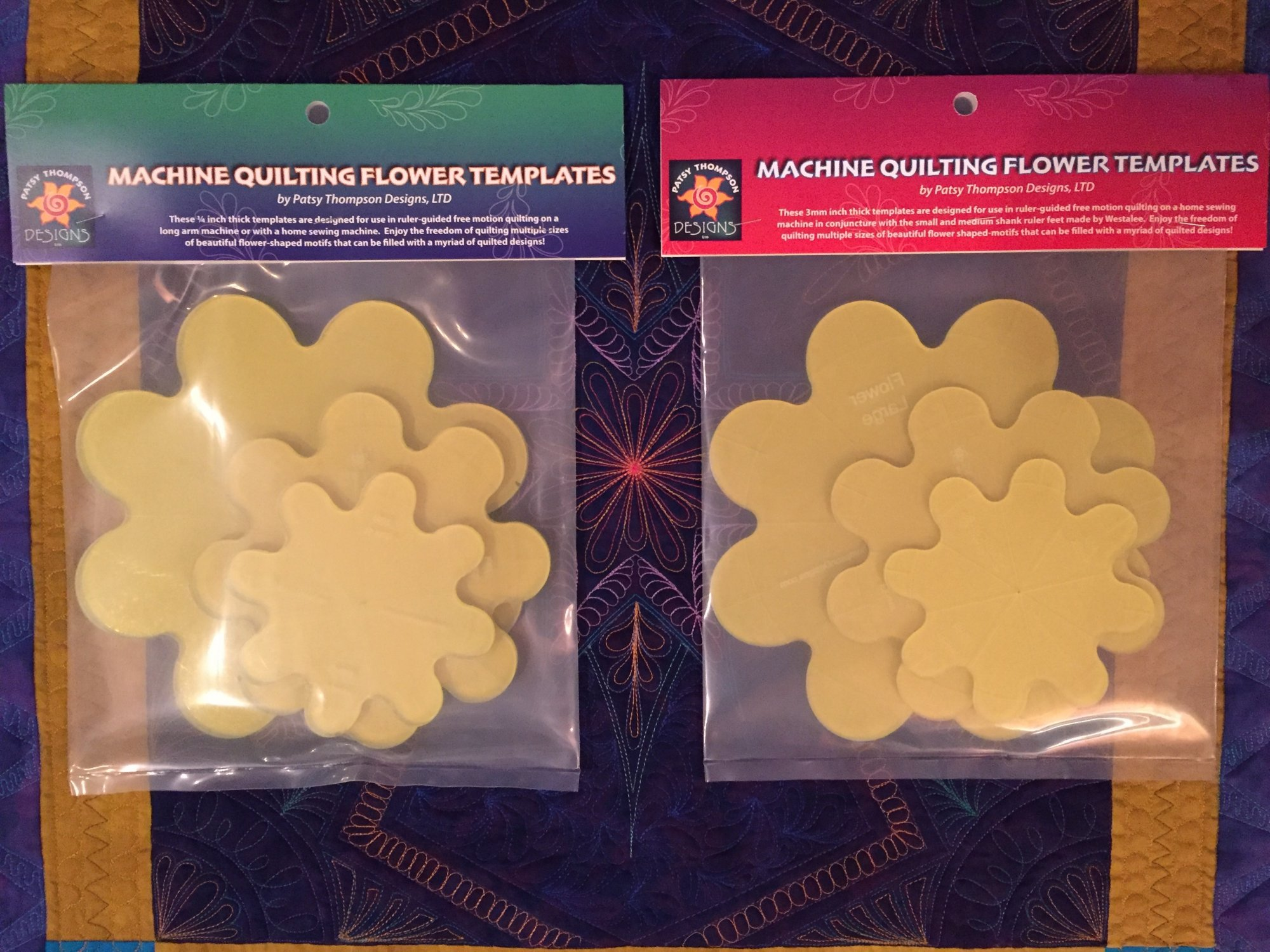 Machine Quilting Flower Templates by Patsy Thompson