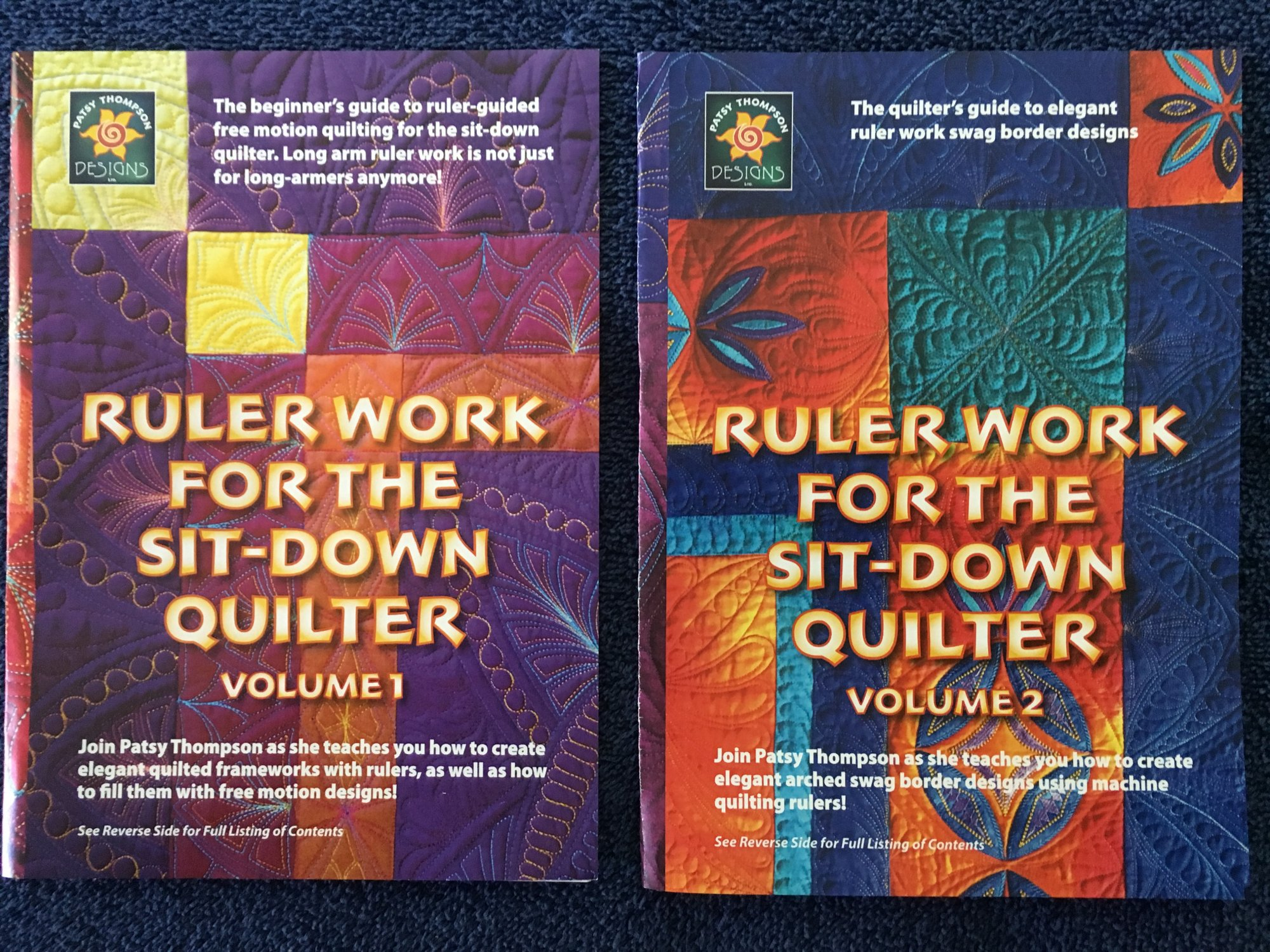 Ruler Work for the Sit-Down Quilter DVD Set (vol. 1 & 2)