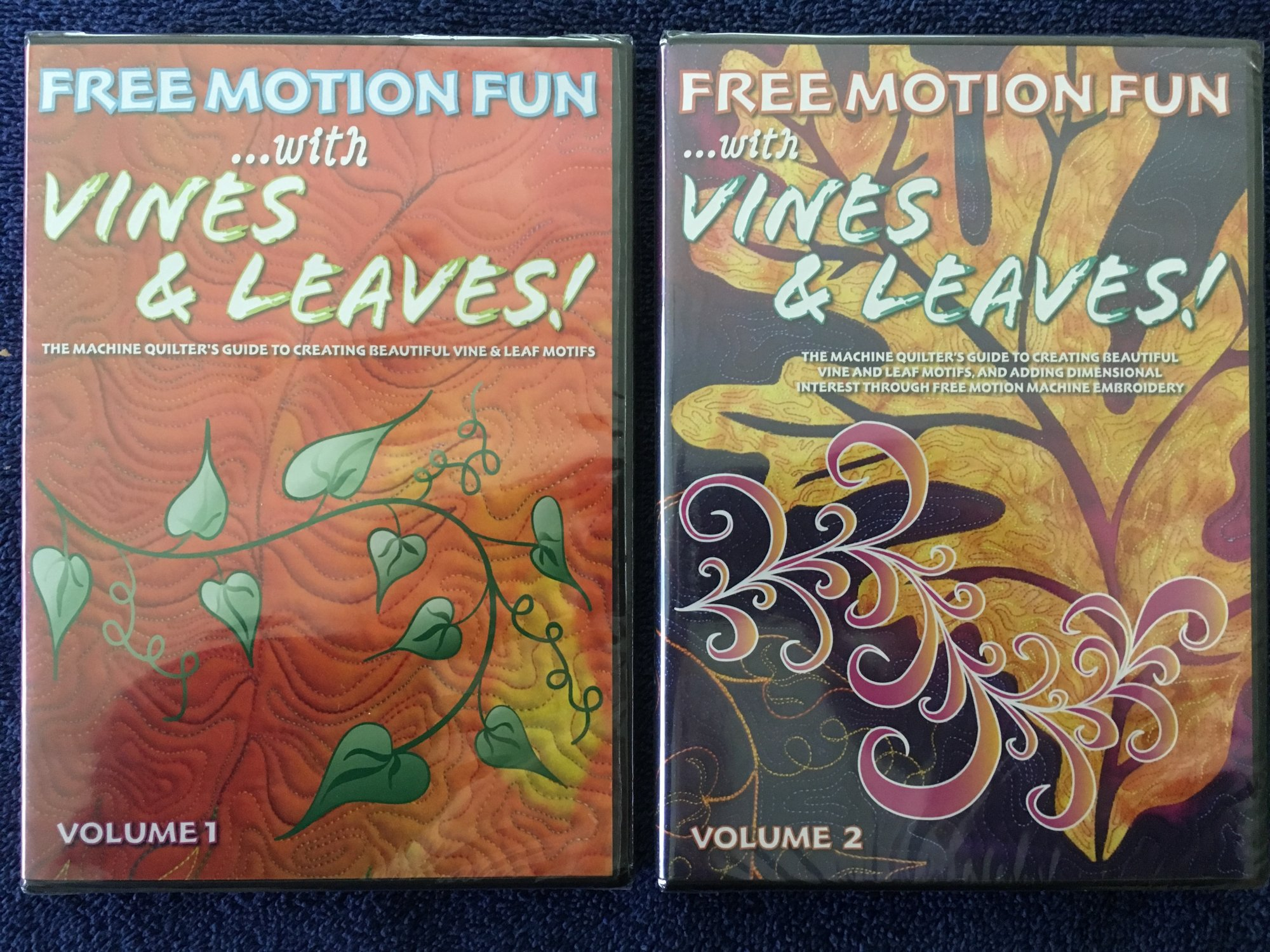 Free Motion Fun with Vines & Leaves Set (vol 1 & 2)