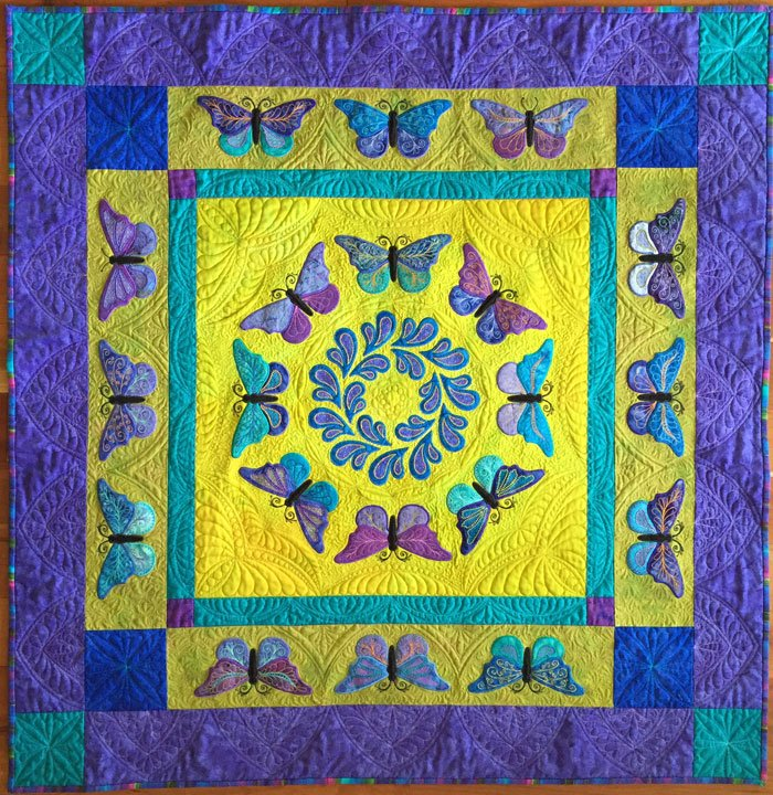 Kissed by a Butterfly MEA Quilt: Downloadable Version