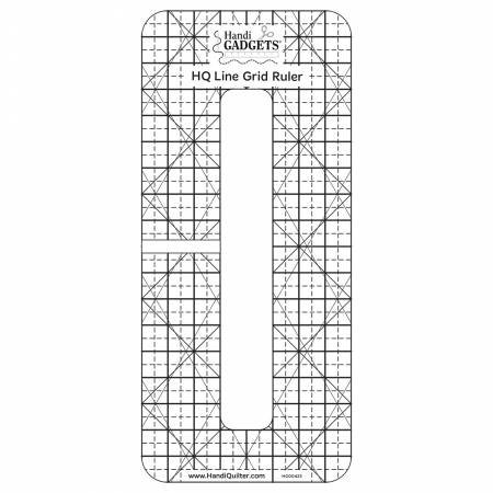 HQ Line Grid Ruler 6 X 1/2