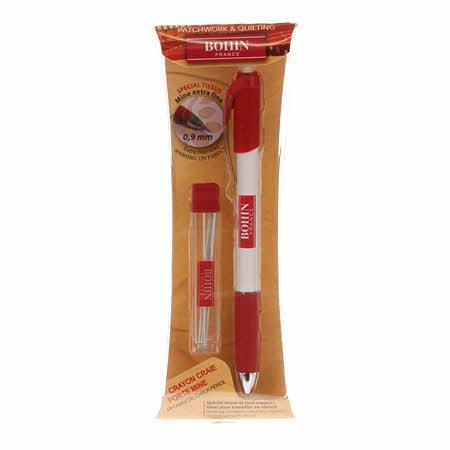 Bohin Mechanical .9mm White Pencil and Refills