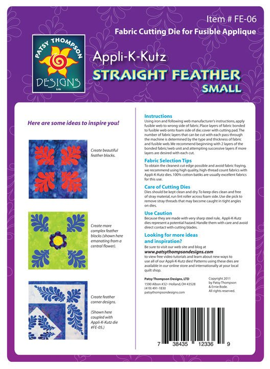 Appli-K-Kutz Straight Feather Small