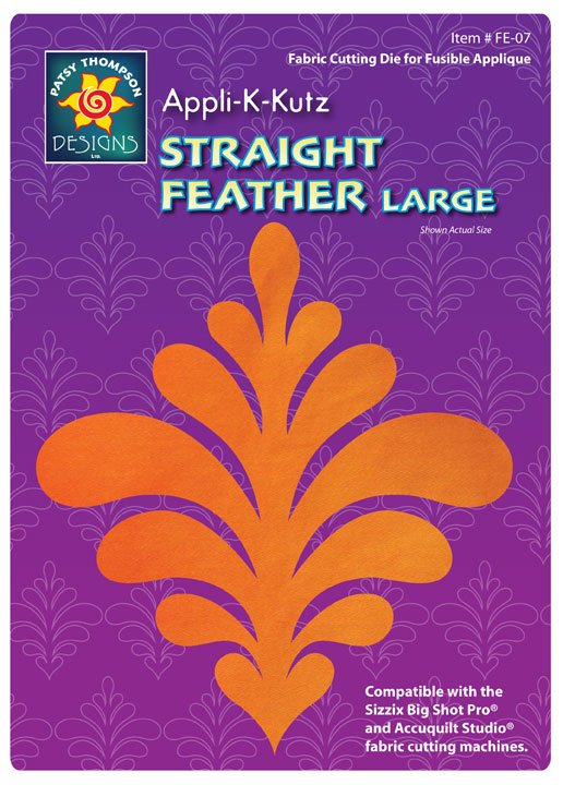 Appli-K-Kutz Straight Feather Large
