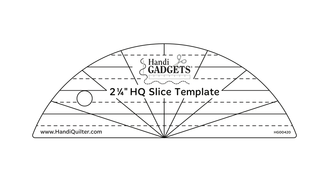 HQ Slice Template 2-1/4 by HandiQuilter