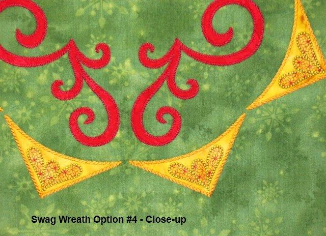 Swag Wreath Block Digitized Design