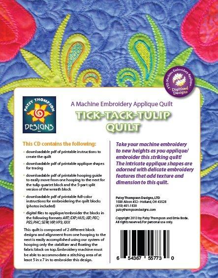 Tick Tack Tulip Quilt - Multi-Format CD