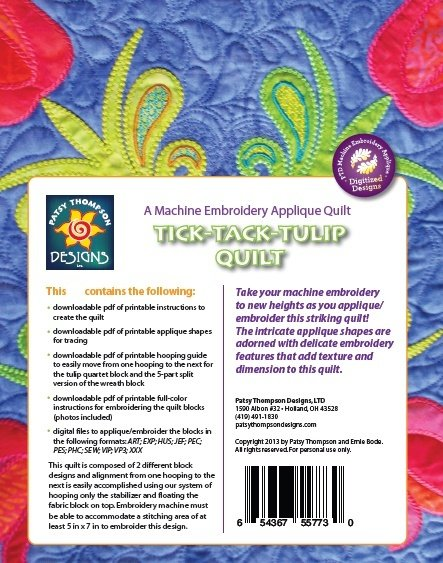 Tick Tack Tulip Quilt ~ Download