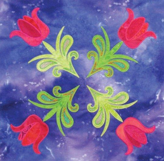 Tulip Quartet Block Digitized Design