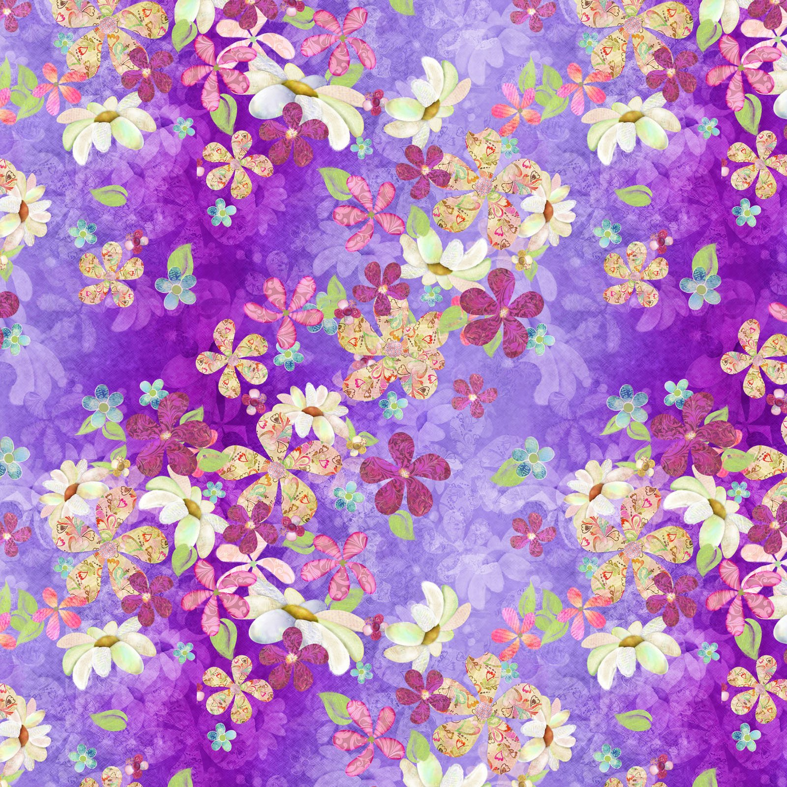 14488-MULTI Purple Floral