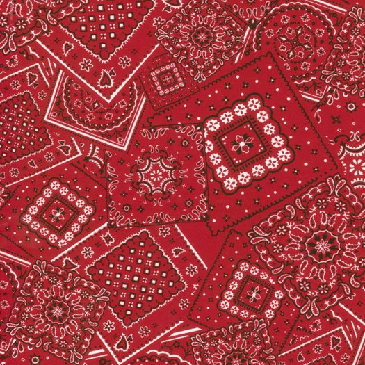 15490-40 Bunk House Bandana real red