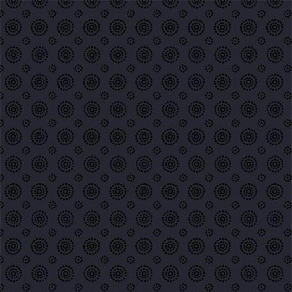 1817-39124-999 Concentric Circles tonal black