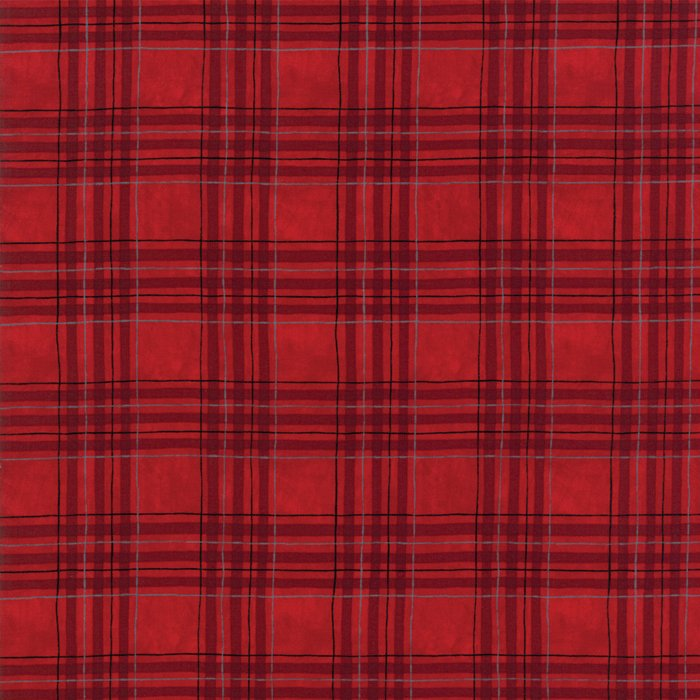 19835-16B Brushed Winter Plaid berry red