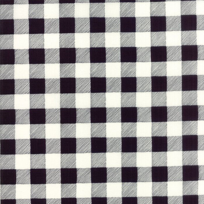 19836-12B Brushed Buffalo Plaid charcoal black white