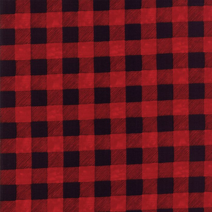 19836-16B Brushed Buffalo Plaid red black
