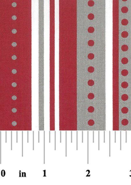 1984 Stripes and Dots red and gray