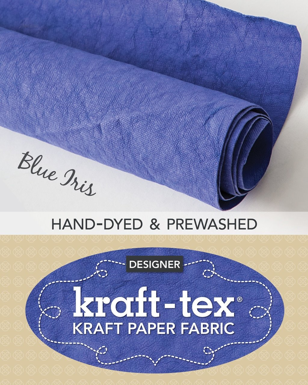 Kraft-Tex Paper Roll blue iris 20383CT