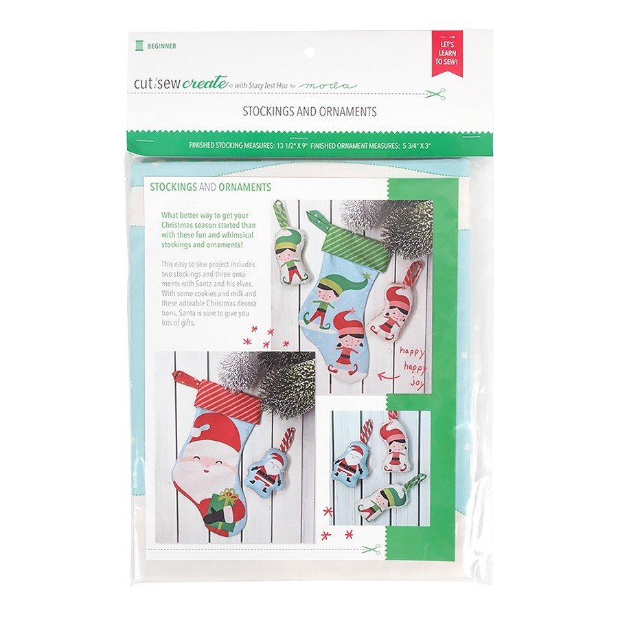 20651-11P Christmas Stockings and Ornaments Panel