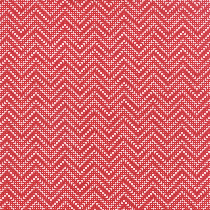 21676-11 Dotted Chevron Red