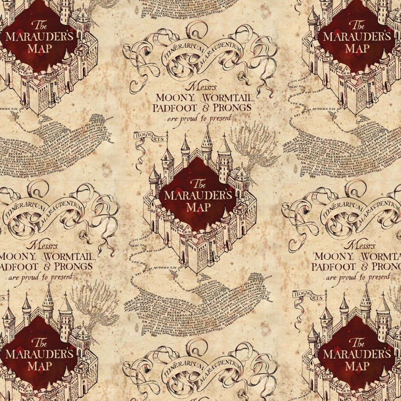2380019-1 Harry Potter Marauders Map cream tan