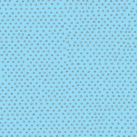 24299-QB Square Dots white on aqua blue