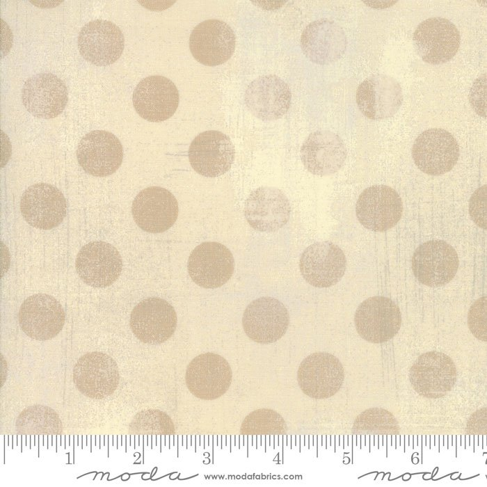 30149-17 Grunge Dots manilla dark cream