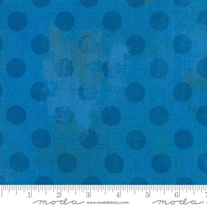 30149-27 Grunge Dots sapphire blue