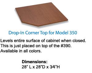 Drop-in Corner Top for 350