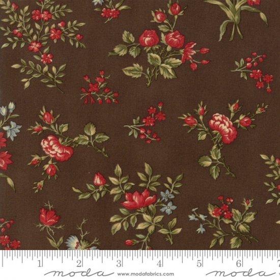 44184-13 Roses chocolate brown